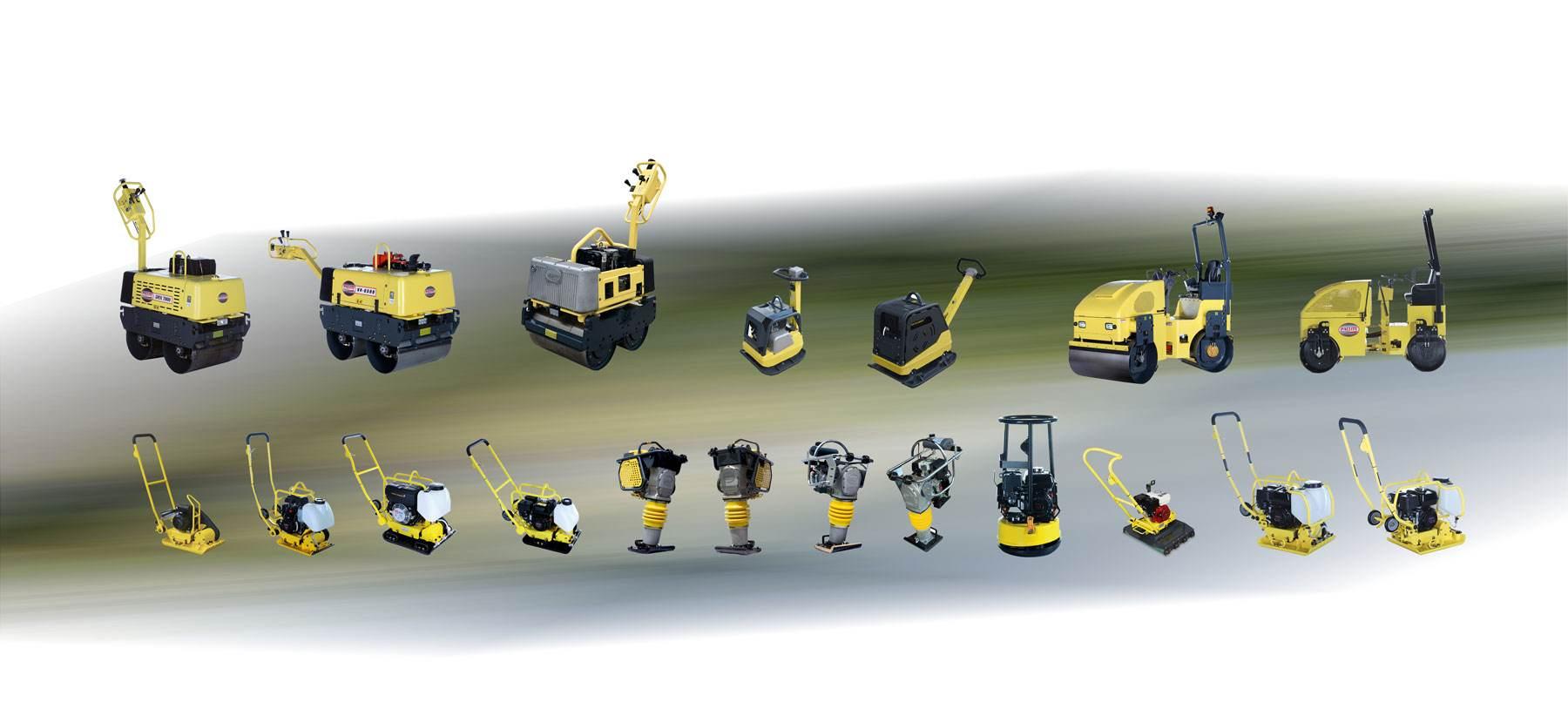 Gamme de Machines Paclite-Equipment pour le compactage