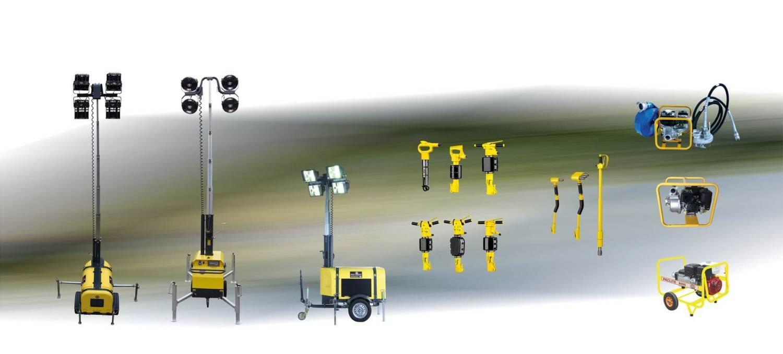 paclite-equipment-machines-btp-chantier-éclairage, groupe-électrogènes,marteaux piqueurs